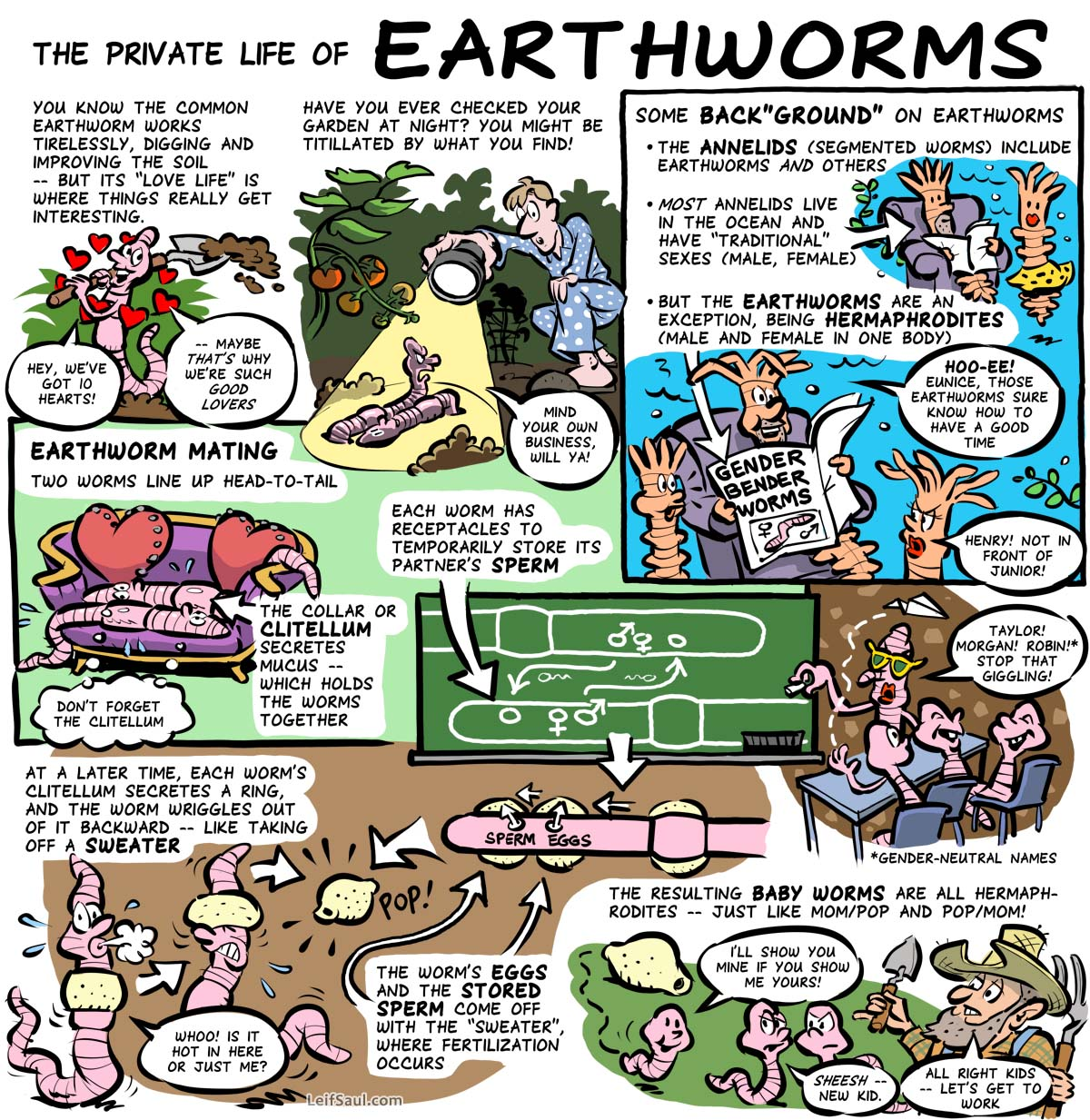 The private life of earthworms